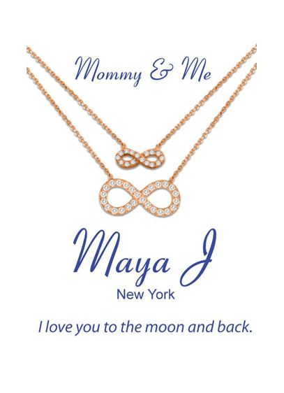 Mommy and Me Infinity Necklace Set - Wedding Accessories