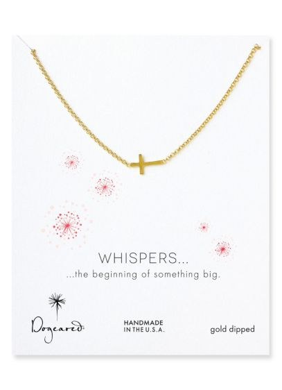 Whisper Cross Necklace - Wedding Accessories