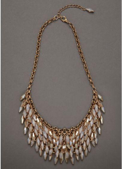 Iridescent Topaz Bead Necklace - Wedding Accessories