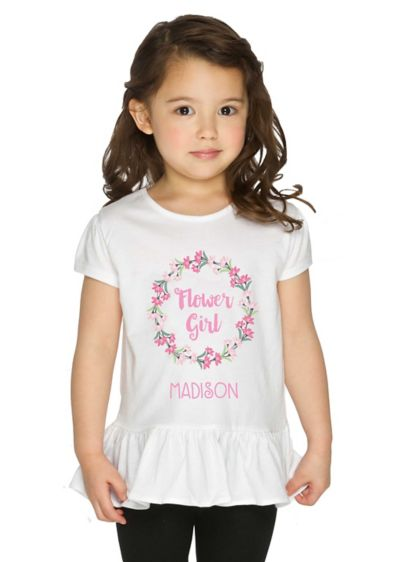 Personalized Flower Girl Shirt - Wedding Gifts & Decorations