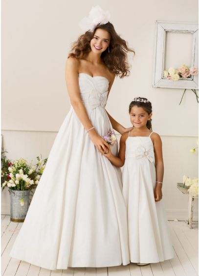 Long Ballgown Spaghetti Strap Communion Dress - David's Bridal