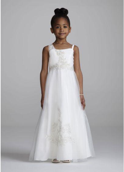 Long A-Line Wedding Dress - Oleg Cassini