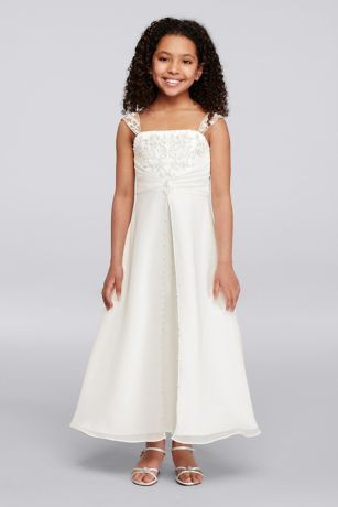 A Line Satin Communion Dress