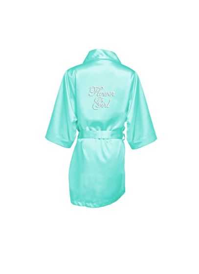 Rhinestone Flower Girl Satin Robe - Wedding Gifts & Decorations