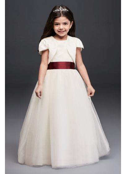 cd5450abbb4 Satin Flower Girl Jacket. FGSATINJKT. Dress - David s Bridal