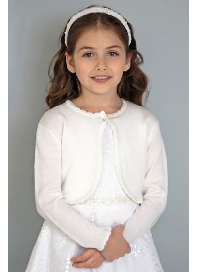 Long Sleeve Flower Girl Sweater - Cover up a sleeveless dress or add a