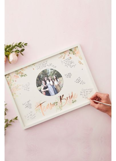 Team Bride Guest Book Frame - Printed with the phrase