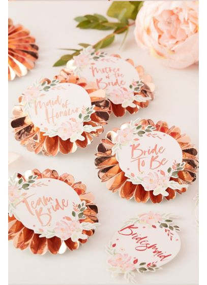 Rosette Pin Badge and Sticker Set - Wedding Gifts & Decorations
