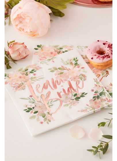 Team Bride Scripted Cocktail Napkins - Wedding Gifts & Decorations