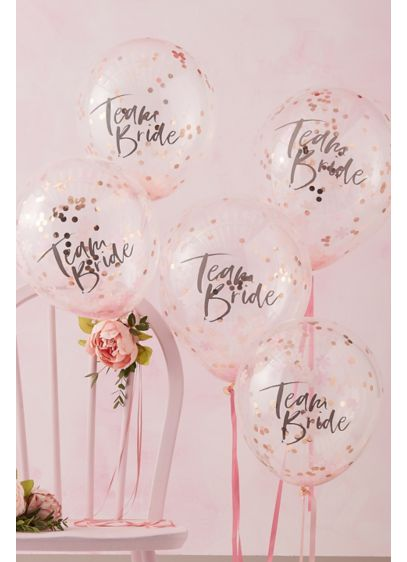 Team Bride Confetti Balloon Set - Wedding Gifts & Decorations