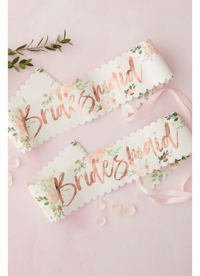 Scalloped Bridesmaid Sashes - Wedding Gifts & Decorations