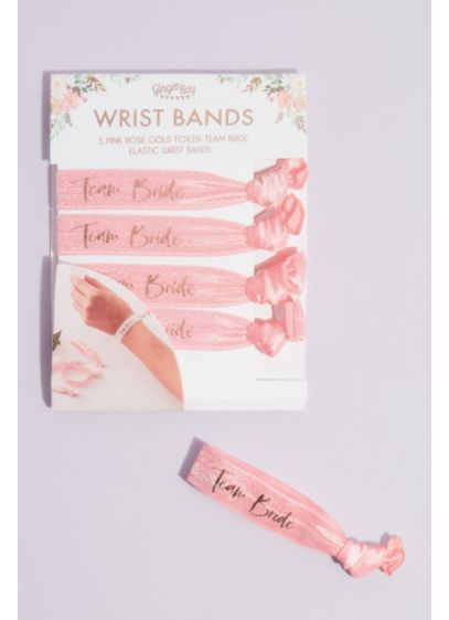 Team Bride Fabric Hair Tie Bracelets - As cute as they are convenient, these elastic