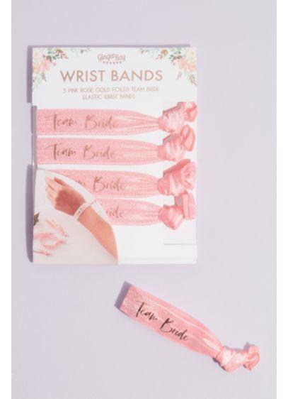 Pink (Team Bride Fabric Hair Tie Bracelets)