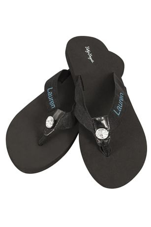 David's Bridal Black;White Flip Flops (DB Exclusive Personalized Flip Flops)