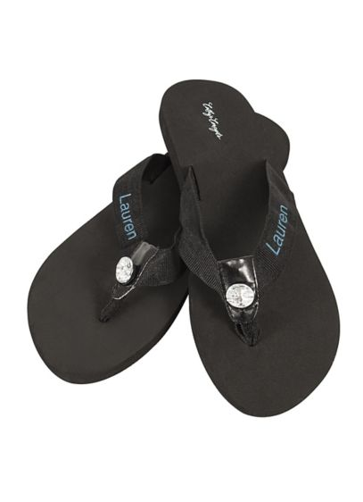 David's Bridal White (DB Exclusive Personalized Flip Flops)