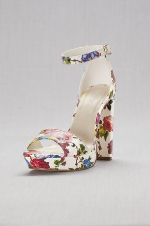 Floral Platform Heels