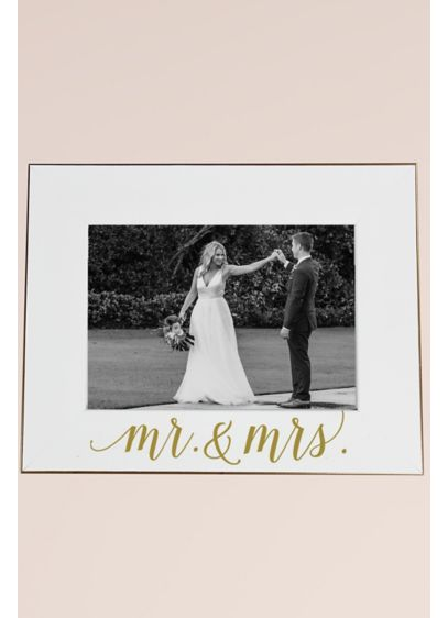 Mr and Mrs White Scripted Frame - Wedding Gifts & Decorations