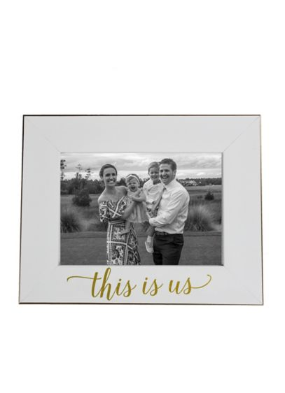 This Is Us Frame - A pretty white frame featuring