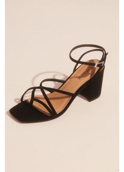Crisscross Thong Ankle Strap Block Heel Sandals - These sandals will quickly become your go-to pair