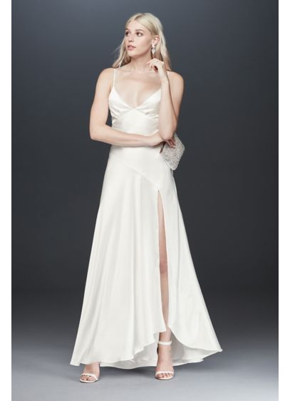 Long Sheath Beach Wedding Dress - Fame and Partners x David's Bridal