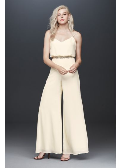 Fame and Partners Catalina Double Strap Jumpsuit - A blouson top with delicate double straps, which