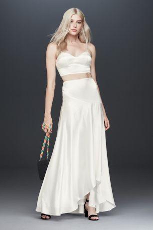 Long Separates Spaghetti Strap Dress - Fame and Partners x David's Bridal