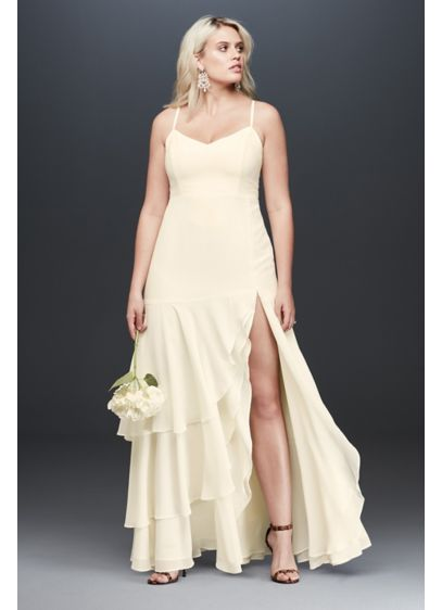 Long Sheath Beach Wedding Dress - Fame and Partners x David's Bridal