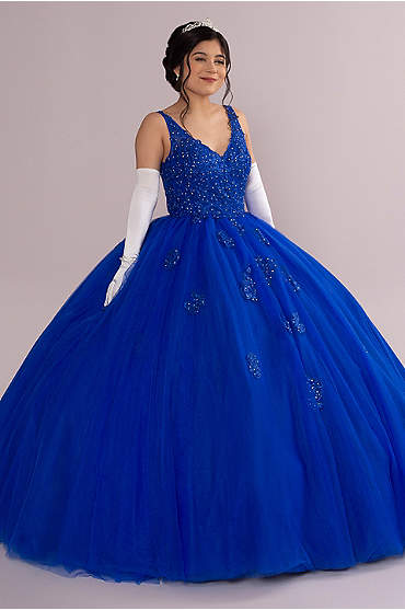 Fairytale Ballgown with Embellished Lace Applique