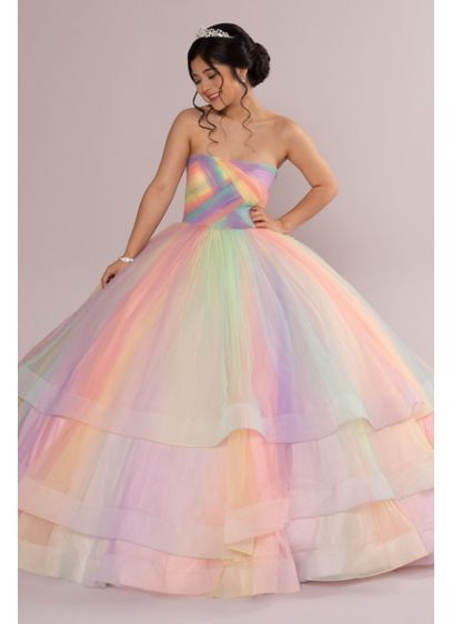 Multicolor 3-Tier Quince Dress with Corset Back - If you live your life in technicolor, this