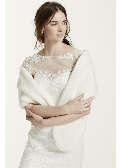 Faux Fur Stole - Wedding Accessories