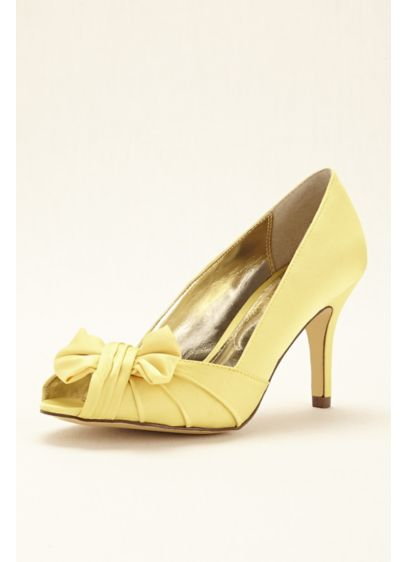 Touch of Nina Grey (Peep Toe Pump with Bow by Nina)