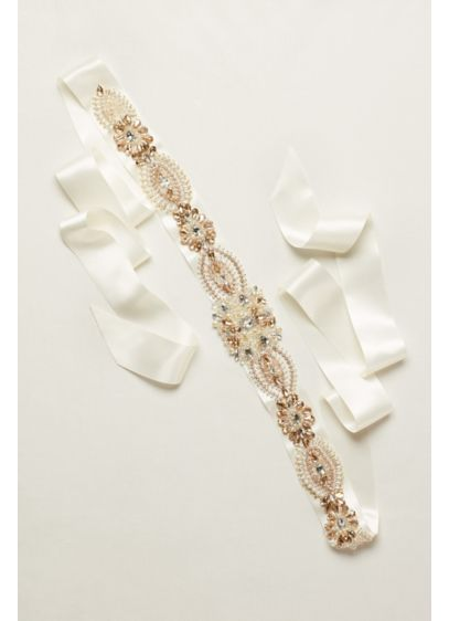 Mixed Media Opal Sash - Wedding Accessories
