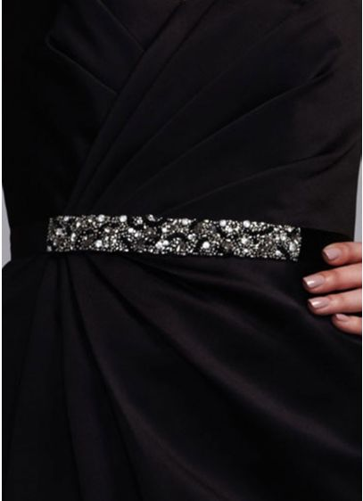 Crystal Beaded Satin Sash - Wedding Accessories