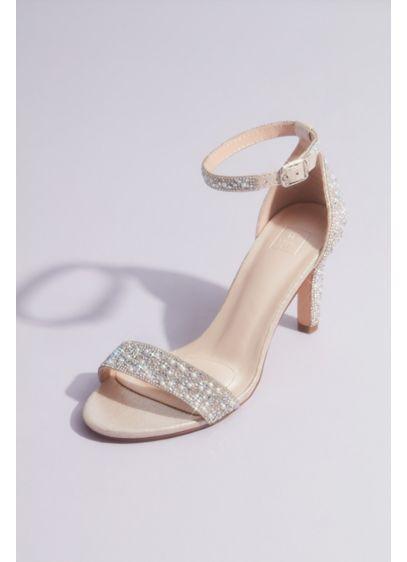 David's Bridal Pink (Pearl and Iridescent Crystal One-Band Mid Heels)
