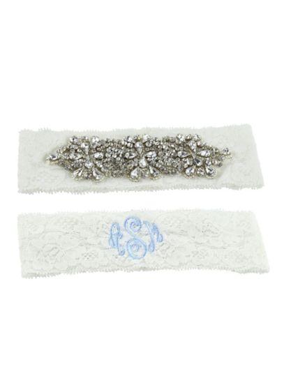 Monogrammed Garter Set - Wedding Accessories