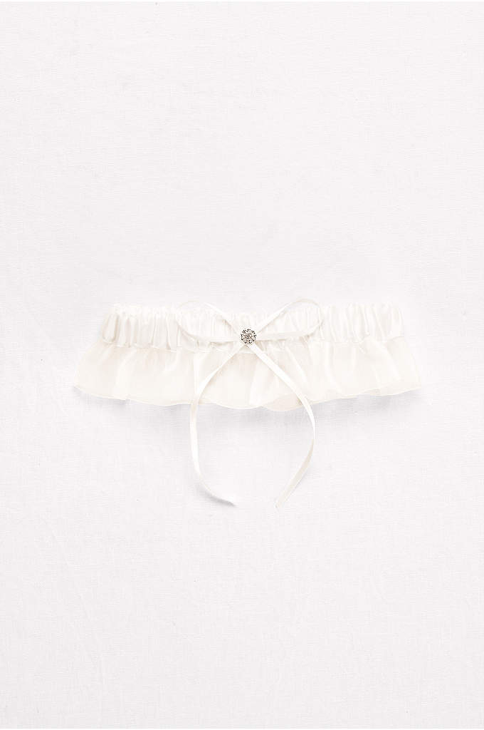 Ruffled Organza and Satin Garter