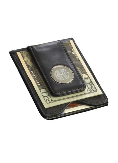 Personalized Leather Wallet and Money Clip - This personalized leather wallet and money clip securely