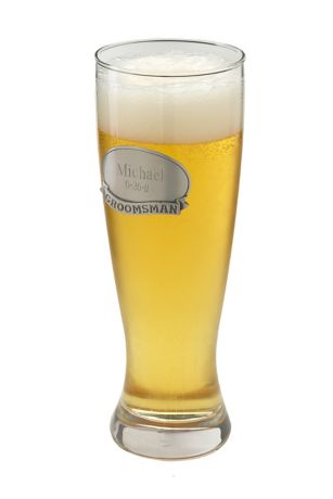 Personalized Grand Pilsner with Pewter Medallion | David's Bridal | Tuggl