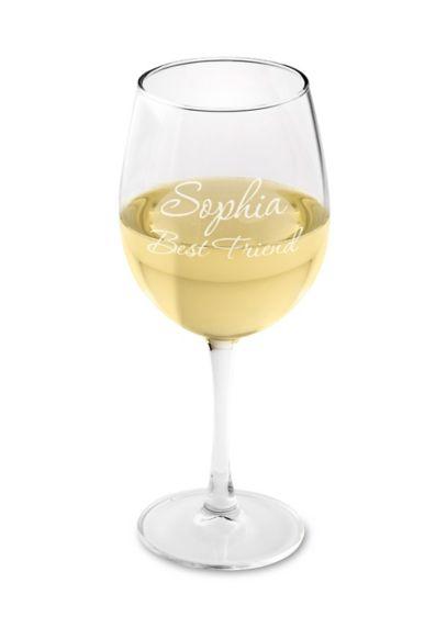 (Personalized Connoisseur White Wine Glass)