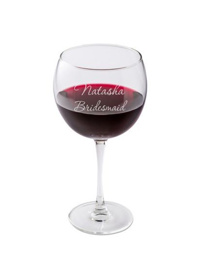 Personalized Connoisseur Red Wine Glass - This sparkling red wine goblet is traditional yet