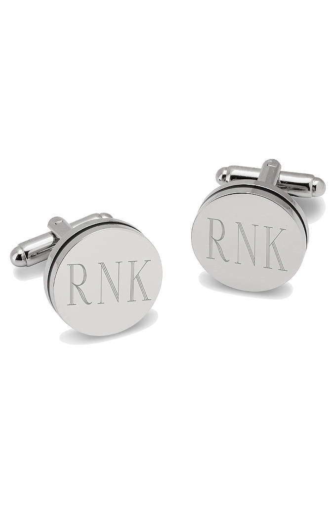 Personalized Pin Stripe Cufflinks - Classy is the name of the game with