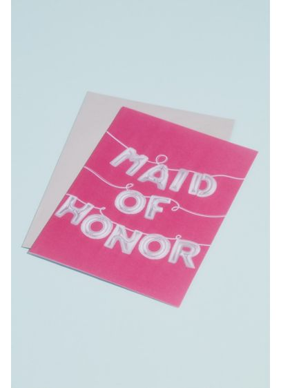 Maid of Honor Balloons Greeting Card - Wedding Gifts & Decorations