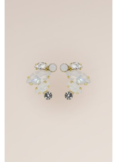 Opal, Swarovski, and Sterling Graduated Climbers - Fiery opals and light-catching Swarovski crystals dazzle in