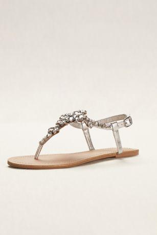 Jeweled T Strap Sandal