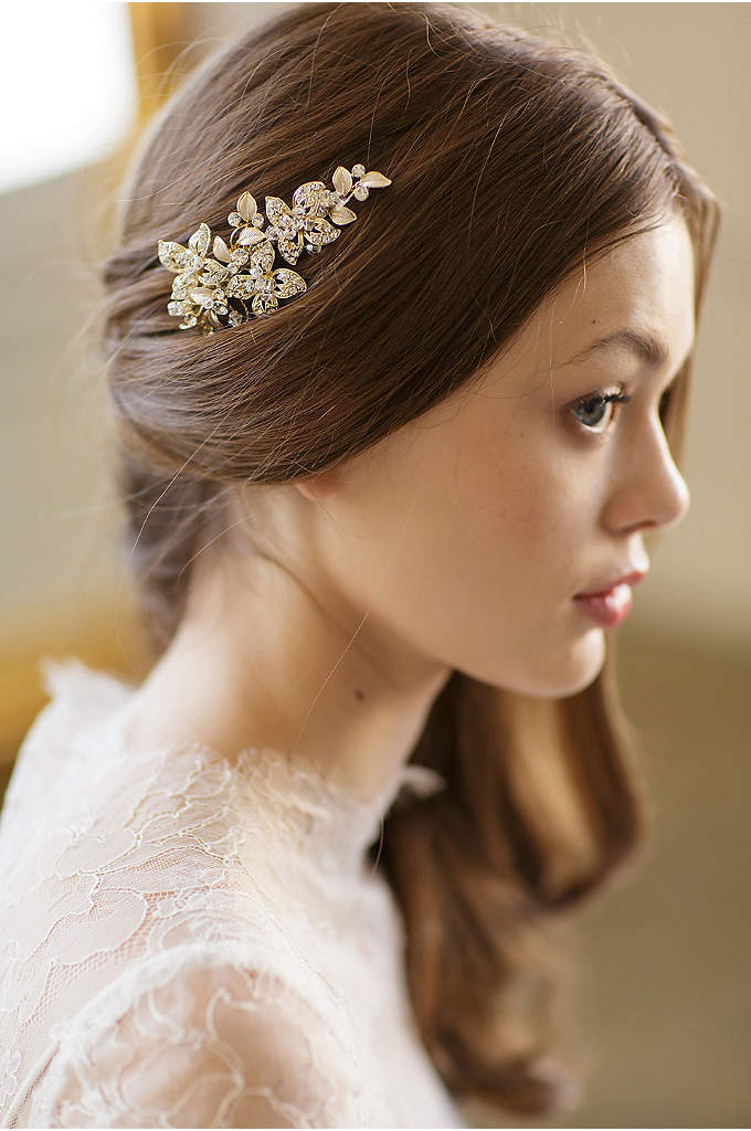 Hand-Wired Crystal Blossom Barrette