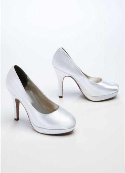 White (Dyeable High Heel Platform Pump)