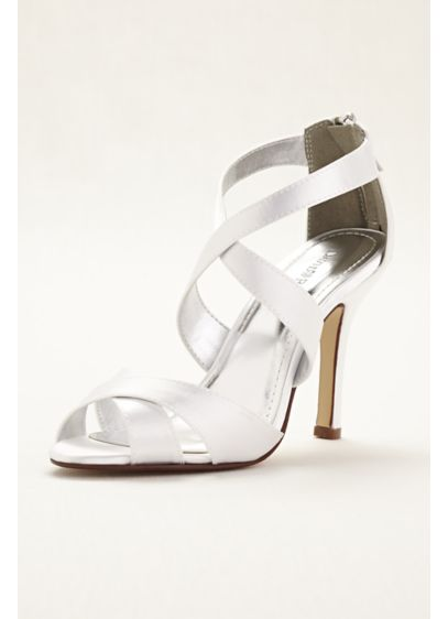 David's Bridal White (Multi Strap Sandal)