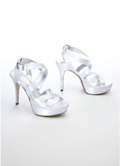 Michaelangelo White (Dyeable Multi Strap Platform Sandal)