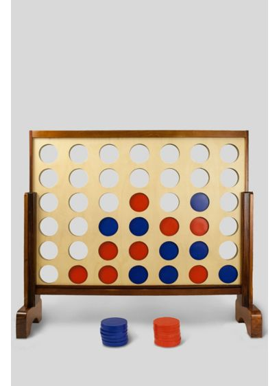 Giant Connecting Checkers Yard Game - Connect a row of four checkers on this