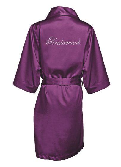 Rhinestone Bridesmaid Satin Robe - Wedding Gifts & Decorations